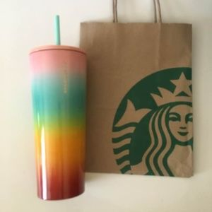 Starbucks Rainbow Tumbler Stainless Steel 24oz